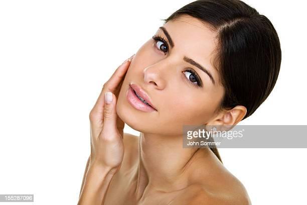 beautiful hispanic woman - beautiful puerto rican women stock photos and pictures