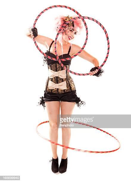 Beautiful Hoola Hoop Girl Performer