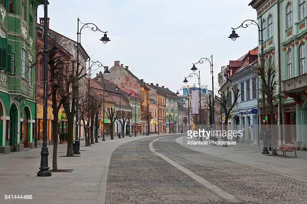 beautiful houses along nicolae balcescu street, timisoara, romania - rumania fotografías e imágenes de stock