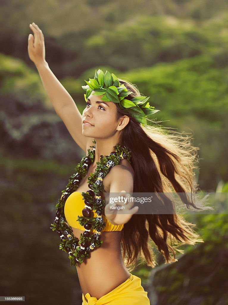 Beautiful Hula Dancer : Stock Photo