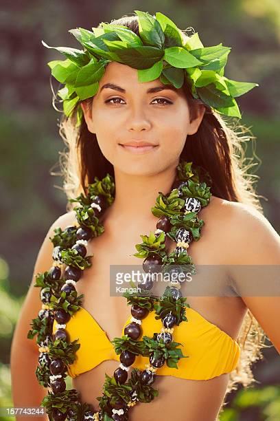 beautiful hula dancer - beautiful polynesian women stock photos and pictures