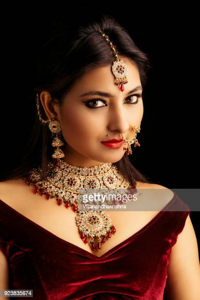 beautiful indian traditional bride portrait - tradition stock pictures, royalty-free photos & images