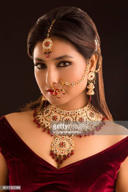 Beautiful Indian traditional bride portrait