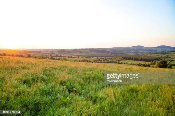 beautiful irish landscape. - zona de prados fotografías e imágenes de stock