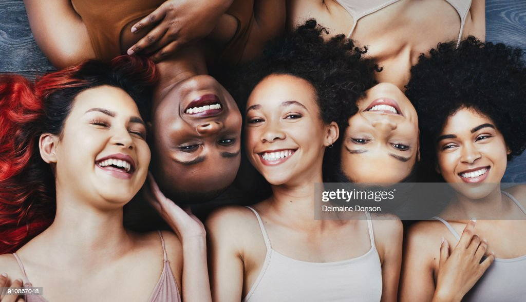 Beautiful is a feeling, not a face : Stock Photo