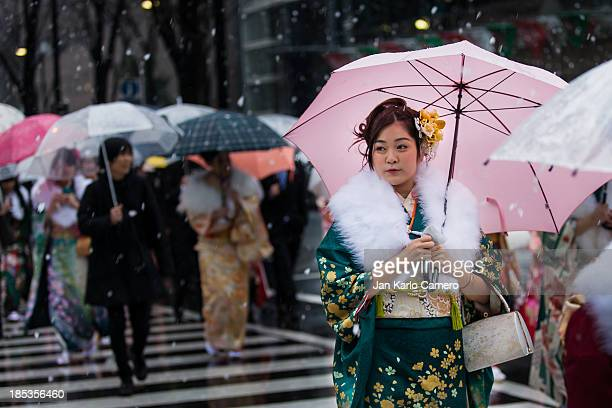 Beautiful Japanese ladies attended the January 13 holiday, Coming of Age day . It was a great opportunity for photographers and an added challenge...