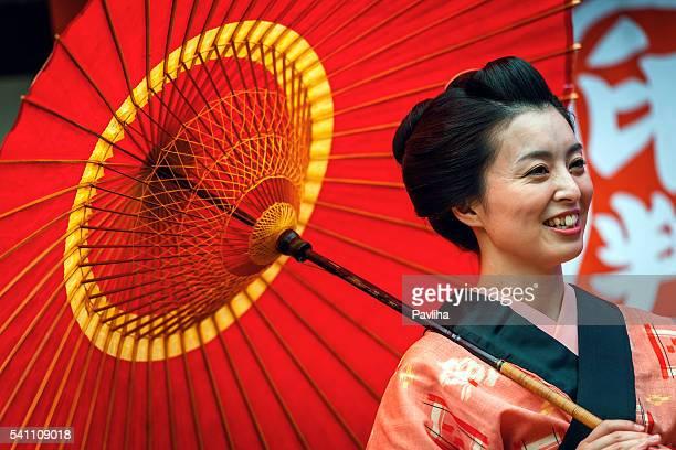 美しい日本人女性、着物を 京都,japan - edo period ストックフォトと画像
