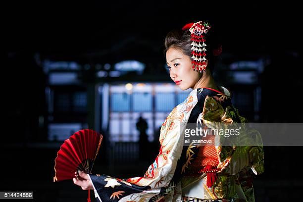 美しい日本の女性、着物を東京,日本