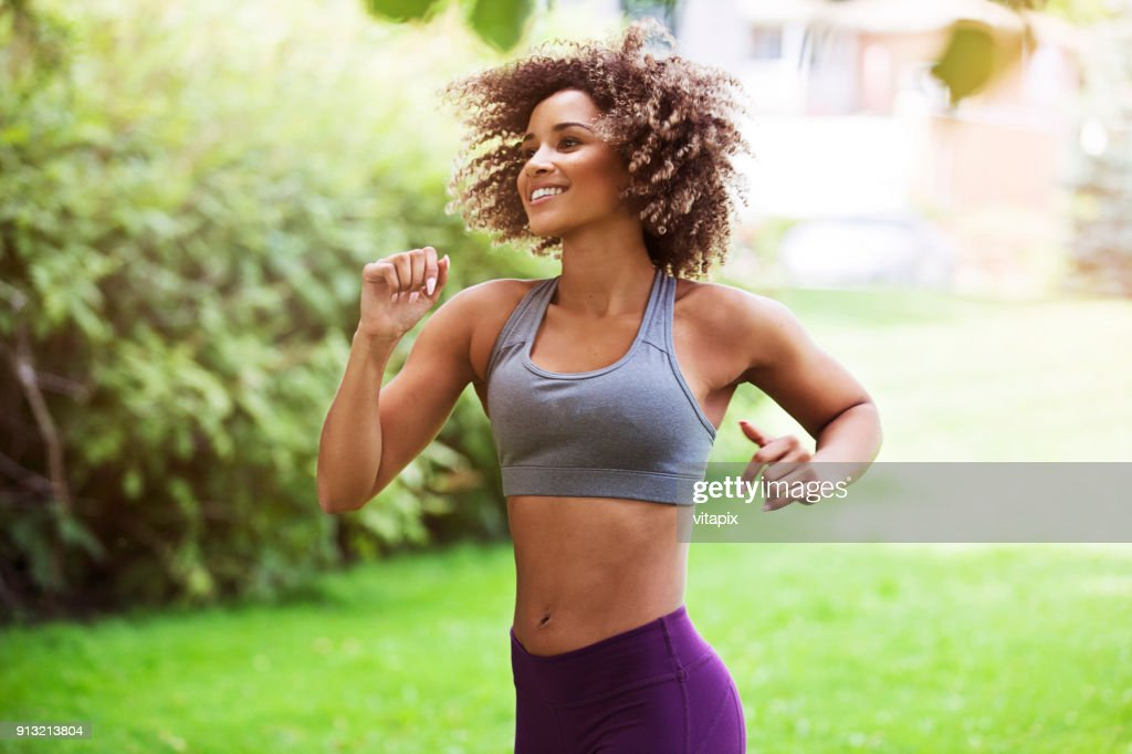 Beautiful Jogger Outdoors : Stock Photo