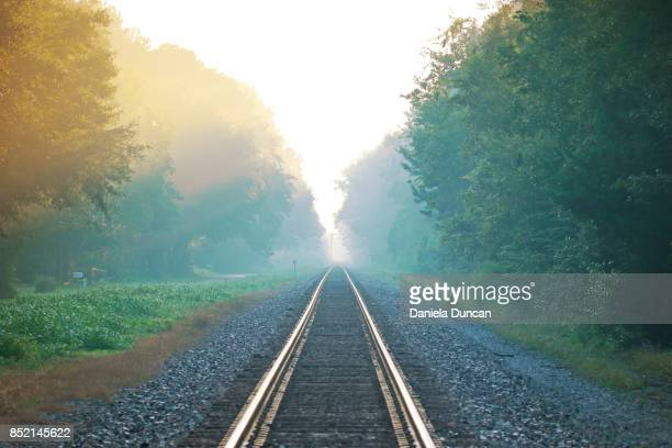 a beautiful journey - railroad track stock pictures, royalty-free photos & images