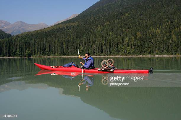 beautiful kayaker - first nations stock pictures, royalty-free photos & images