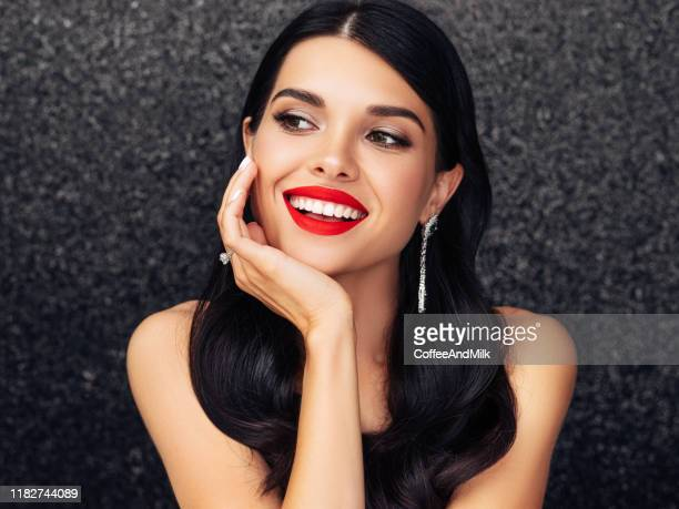 beautiful lady with elegant hairstyle - glamour stock pictures, royalty-free photos & images