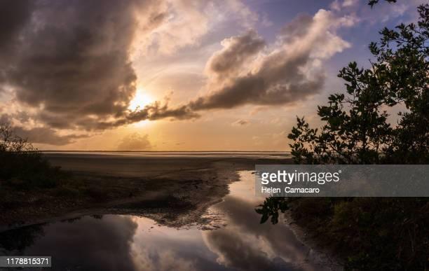 beautiful lagoon at dawn - light natural phenomenon stock pictures, royalty-free photos & images