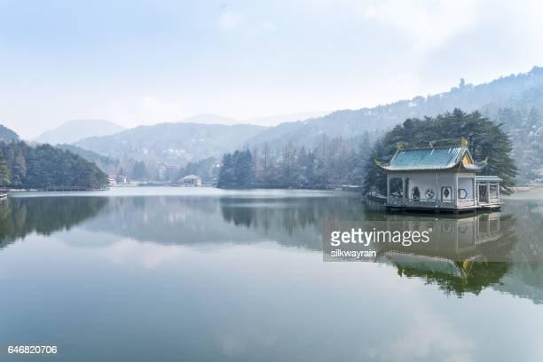 beautiful lake in lushan
