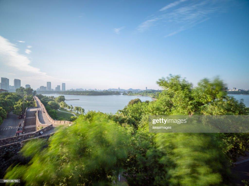 beautiful lake Xuanwu scenery,xuanwu district,nanjing : Stock-Foto