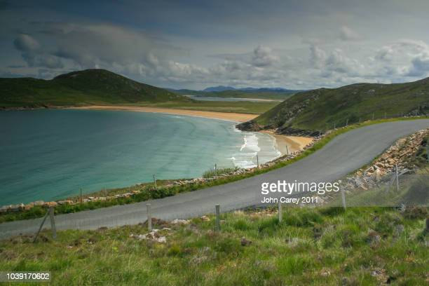 beautiful landscape along the stunning atlantic drive - county donegal stock photos and pictures