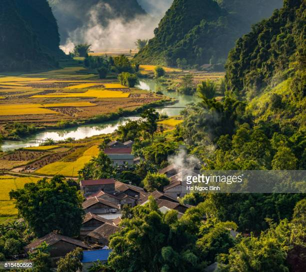 beautiful landscape in cao bang province, vietnam - sapa stock pictures, royalty-free photos & images