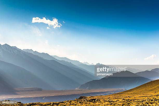 beautiful landscape in norther part of india - kashmir stock photos and pictures