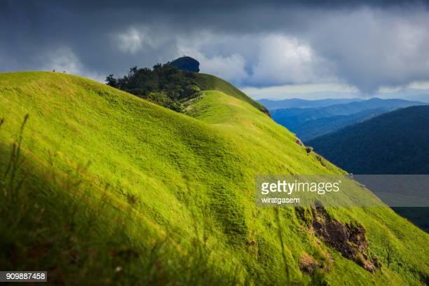 Beautiful Landscape In The Mountains At Mon Jong Amphur Omkoi, Chiangmai, Thailand.