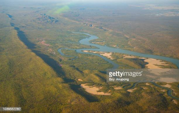 beautiful landscape in the top end area of arnhem land, northern territory state of australia view from airplane. - アーネム ストックフォトと画像