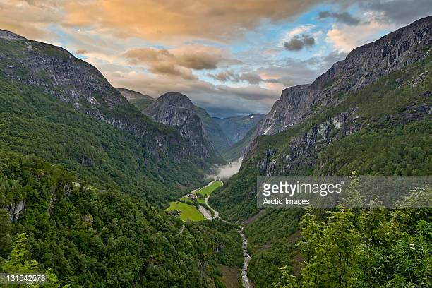 Beautiful landscape, Naeroy Valley, Norway