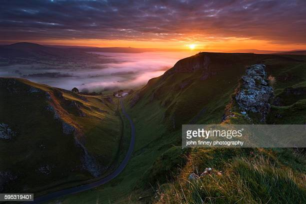 Beautiful landscape of Derbyshire Peak District.UK