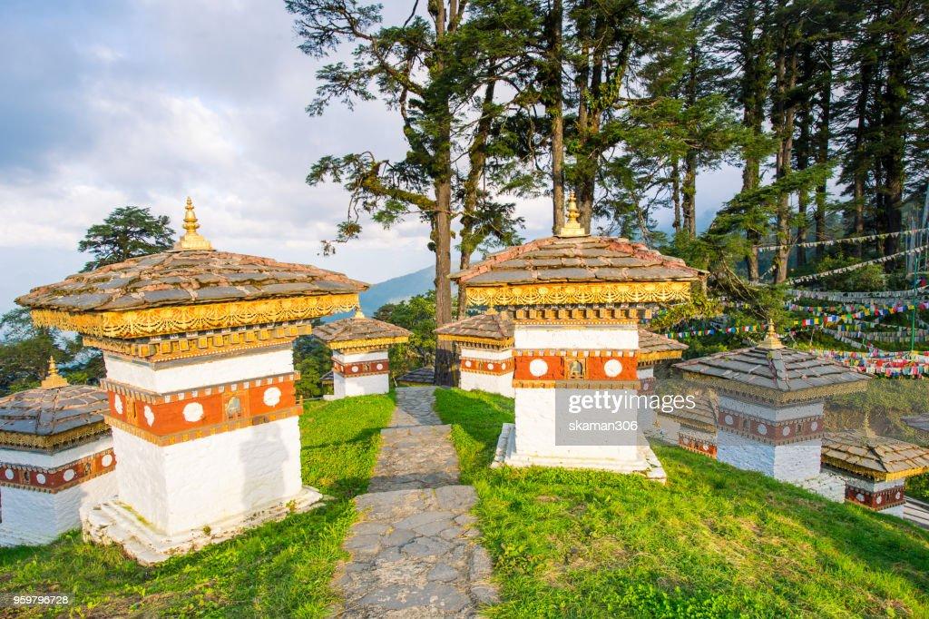 beautiful landscape of Dochula 108 stupa at Dochula pass Bhutan : Photo