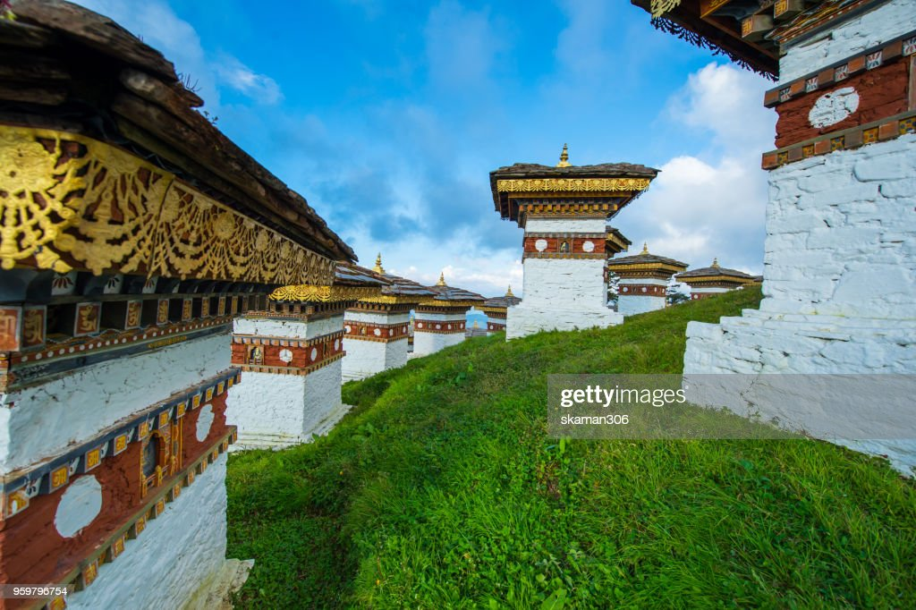 beautiful landscape of Dochula 108 stupa at Dochula pass Bhutan : Stock-Foto