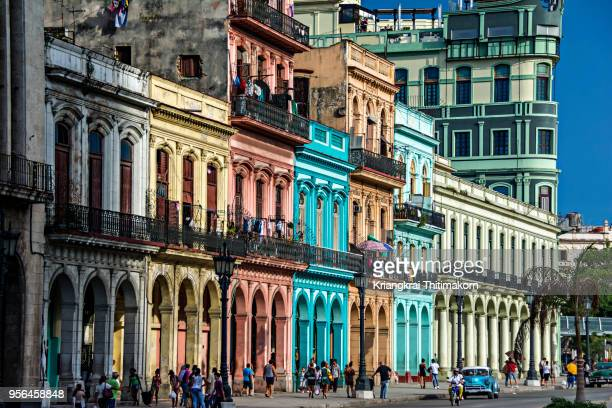 beautiful landscape of havana city, cuba. - old havana stock pictures, royalty-free photos & images