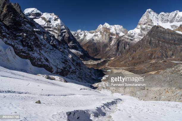 Beautiful landscape of Himalaya mountains from Mera la, Nepal