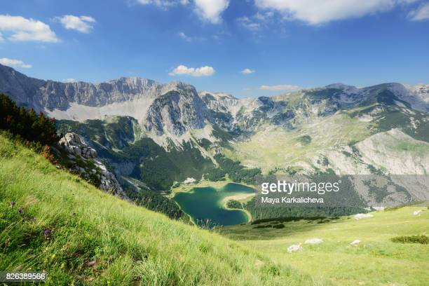 Beautiful landscape of Maglic mountain with Trnovacko lake below
