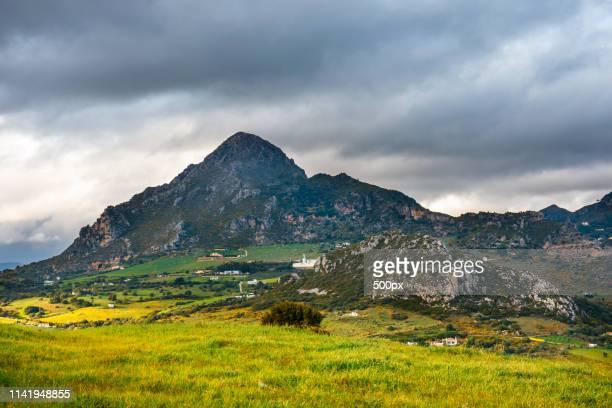 beautiful landscape of sierra crestelina in andalusia, spain - indigo casares fotografías e imágenes de stock