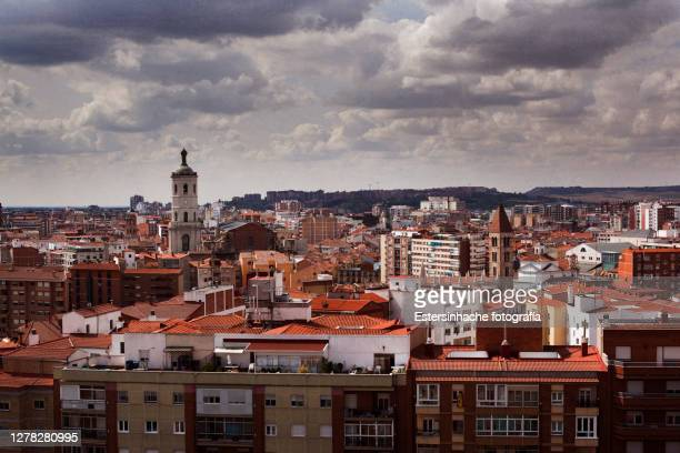 beautiful landscape of the city center of valladolid - valladolid spanish city stock pictures, royalty-free photos & images