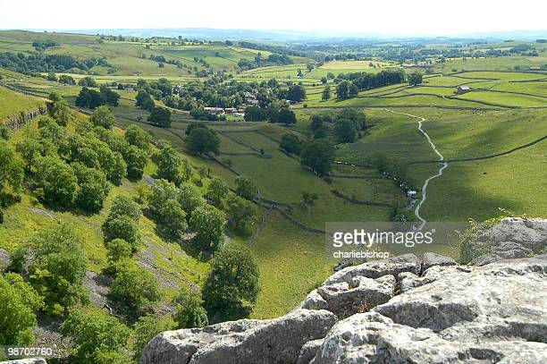 Beautiful landscape of the Yorkshire Dales England from Malham Cove