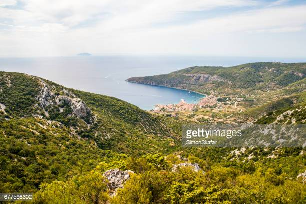 Beautiful landscape view of the seaside town