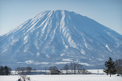 Beautiful landscape winter and snow season Mount yotei  near Niseko Hokkaido Japan 2019 - gettyimageskorea