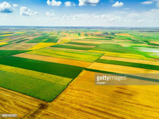 beautiful landscapes and agriculture, farms and ranches - patchwork stock pictures, royalty-free photos & images