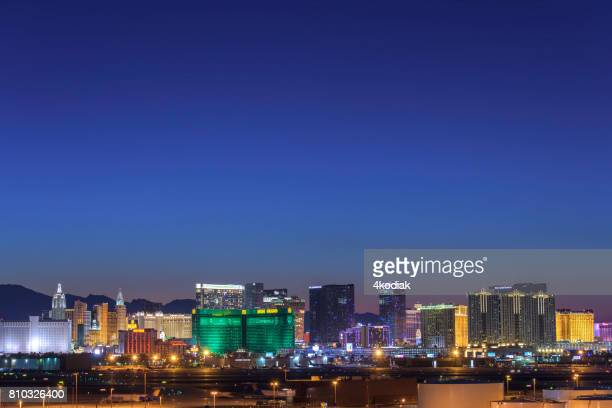 beautiful las vegas after sunset - mt charleston stock photos and pictures