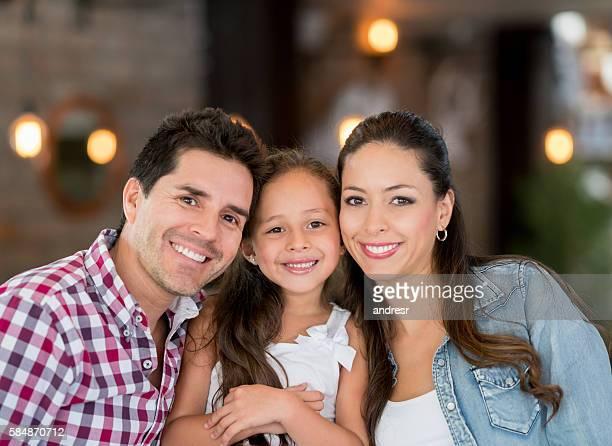 Beautiful Latin American family portrait