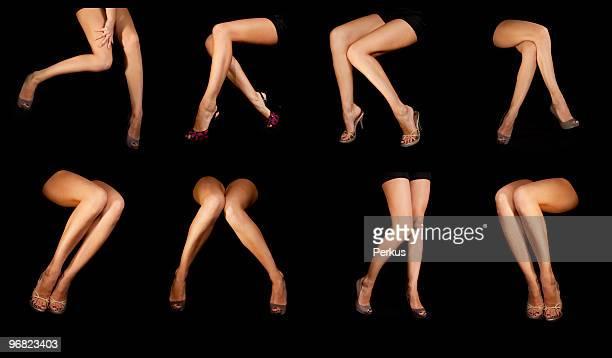 Schöne Beine auf Schwarz