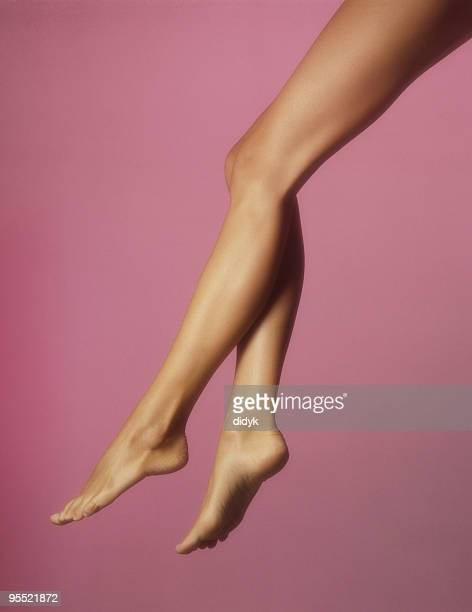 beautiful legs - pretty toes and feet stock photos and pictures