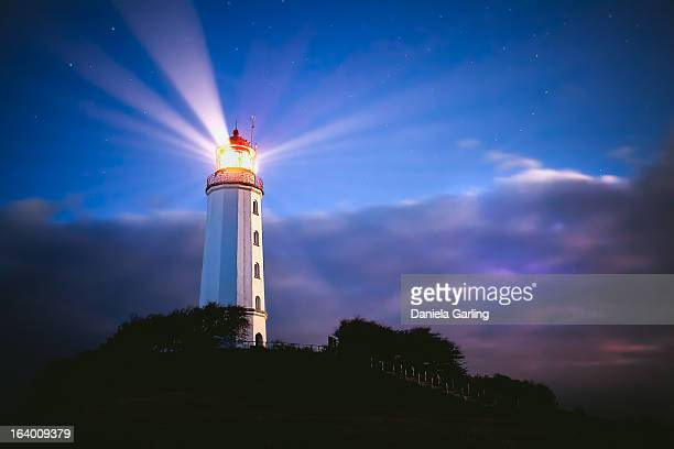 beautiful lighthouse at night