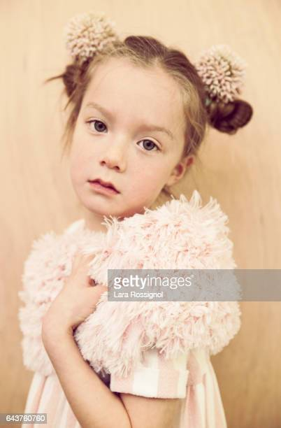 Beautiful Little Girl in Vintage Styled Floral Fashion