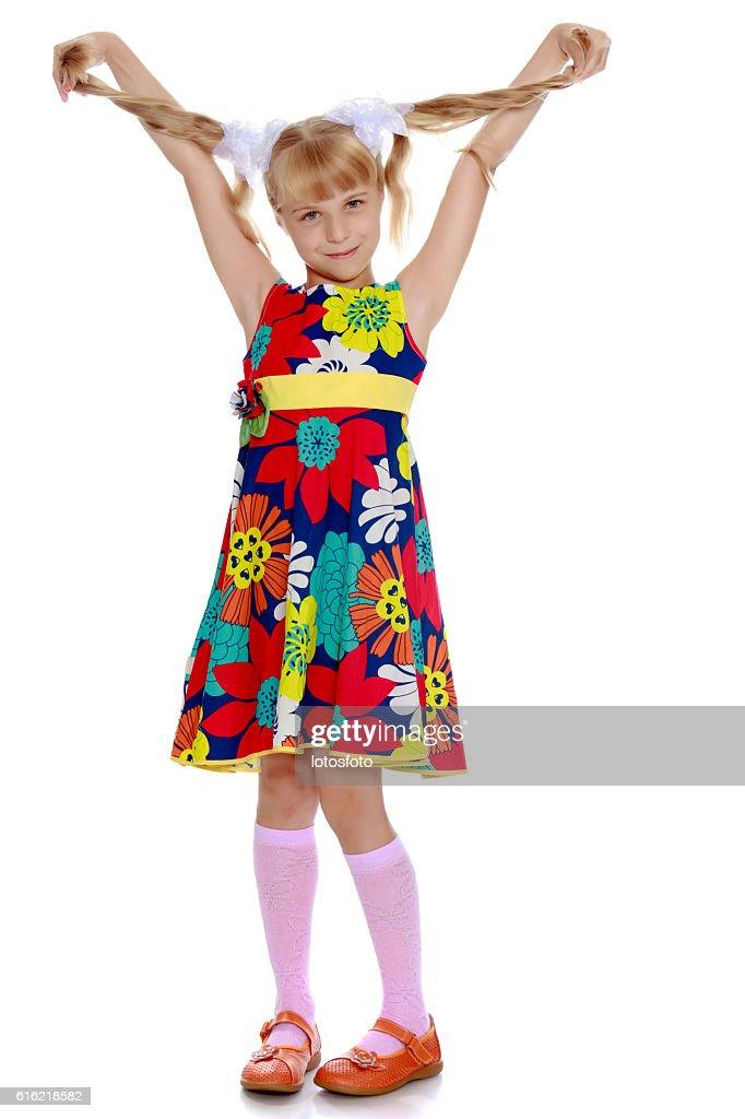 Beautiful little girl : Stock Photo