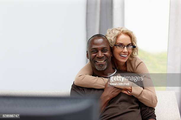 Beautiful mature couple looking happy together