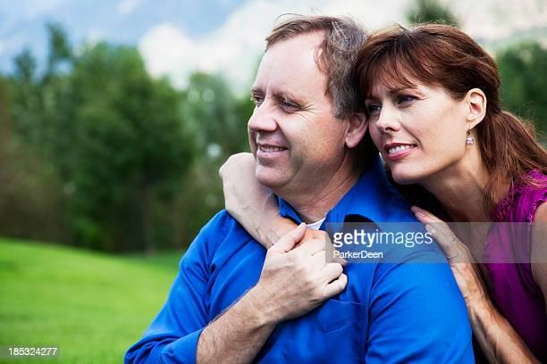 Beautiful Mature Couple Outside