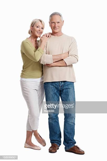 Beautiful mature couple smiling
