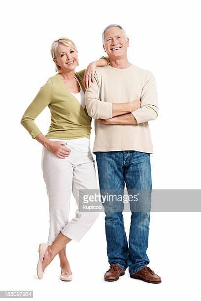 Schönes Älteres Paar Lächeln zusammen