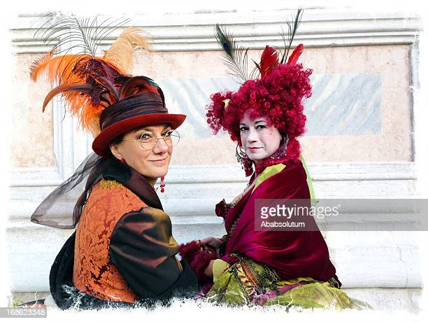 beautiful mature masks in venice carnival 2013 - mardi gras photos stock pictures, royalty-free photos & images