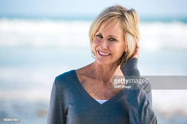 Beautiful Mature Woman on a beach